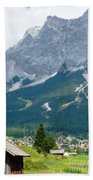 Bavarian Alps With Shed Bath Towel