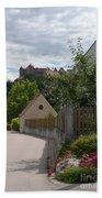 Bavarian Village With Castle  View Bath Towel