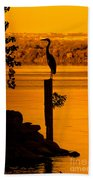 Bay At Sunrise - Heron Bath Towel