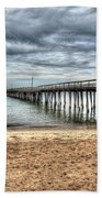 Bay Side Lynnhaven Fishing Pier Bath Towel