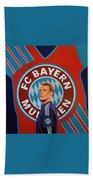 Bayern Munchen Painting Bath Towel
