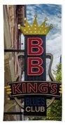 Bb King's Blues Club - Honky Tonk Row Bath Towel