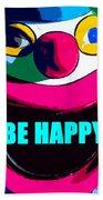 Be Happy Clown 2 Bath Towel