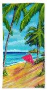 Beach And Mokulua Islands  #368 Hand Towel