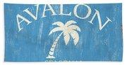 Beach Badge Avalon Hand Towel
