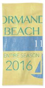 Beach Badge Normandy Beach 2 Bath Towel