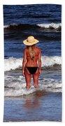 Beach Blonde - Digital Art Bath Towel