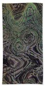 Beach Bubbles Abstract Bath Towel