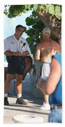 Beach Cops And Christ Hand Towel