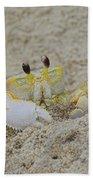 Beach Crab In Sand Bath Towel