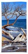 Beach Driftwood Fine Art Photography Bath Towel