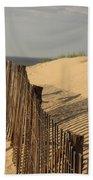 Beach Fence, Cape Cod Bath Towel
