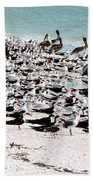 Beach Flock Bath Towel