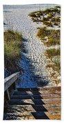 Beach Footprints - Boca Grande Florida Bath Towel