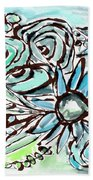 Beach Glass Flowers 1- Art By Linda Woods Bath Towel