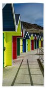 Beach Huts At Barry Island Bath Towel