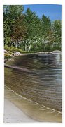 Beach In Muskoka Bath Towel