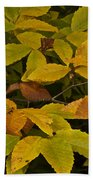 Beach Leaves Bath Towel