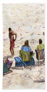 Beach Life Cornwall Bath Towel