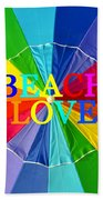 Beach Love Umbrella Spca Bath Towel