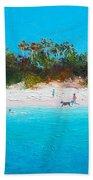 Beach Painting All Summer Long Bath Towel