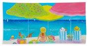 Beach Painting - Beach Life Bath Towel