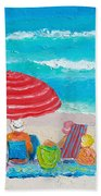 Beach Painting - One Summer Bath Towel