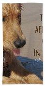 Beach Pup Quote Bath Sheet