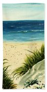 Beach Sand Dunes Acrylic Painting Bath Towel