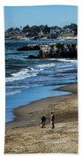 Beach Scene California  Bath Towel