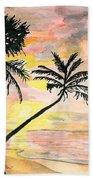 Beach Sunrise Bath Towel