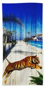 Beach Tiger  Bath Towel