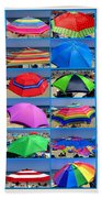 Beach Umbrella Medley Hand Towel