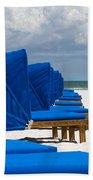 Beach Umbrellas 3 By Darrell Hutto Bath Towel