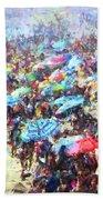 Beach Umbrellas Bath Towel