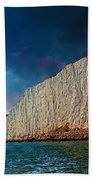 Beachy Head Lighthouse And Cliffs Bath Towel