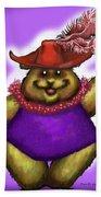 Bear In Red Hat Bath Towel