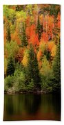 Bear Lake Autumn Bath Towel