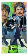 Beatles Fan Art Bath Towel