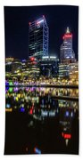 Beautiful Cityscape At Perth's Elizabeth Quay  Hand Towel