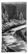 Beautiful Colorado River Page Arizona Blk Wht  Bath Towel
