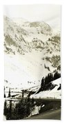 Beautiful Curving Drive Through The Mountains Hand Towel