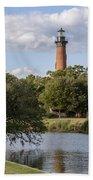 Beautiful Day At Currituck Beach Lighthouse Bath Towel