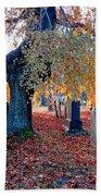 Beautiful Historic Camp Hill Cemetery Halifax Nova Scotia Bath Towel