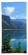 Beautiful Lake Minnewanka Bath Towel