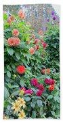 Beautiful Lot Of Dahlias,butchart Gardens,victoria,canada Bath Towel