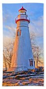 Beautiful Marblehead Lighthouse Bath Towel