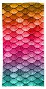 Beautiful Pastel Diagonal Rainbow Spectrum II Mermaid Fish Scales Bath Towel
