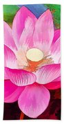 Beautiful Pink Lilies Bath Towel