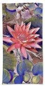 Beautiful Pink Lotus Abstract Bath Towel